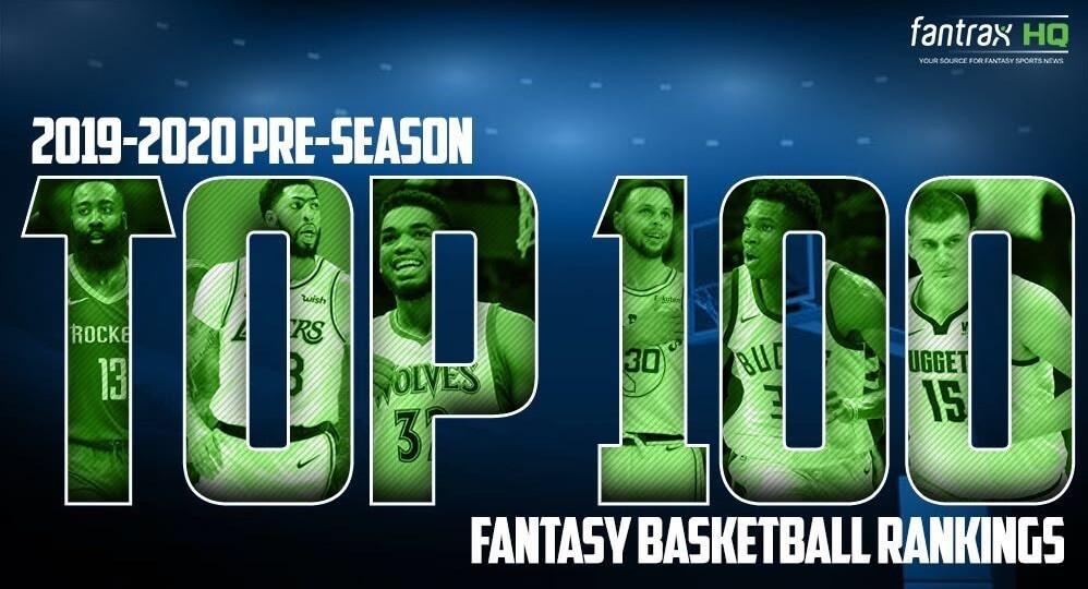 Pre-season 2019-20 Top 150 Fantasy Basketball Rankings
