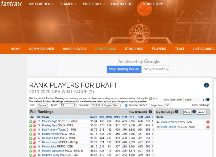 rank players