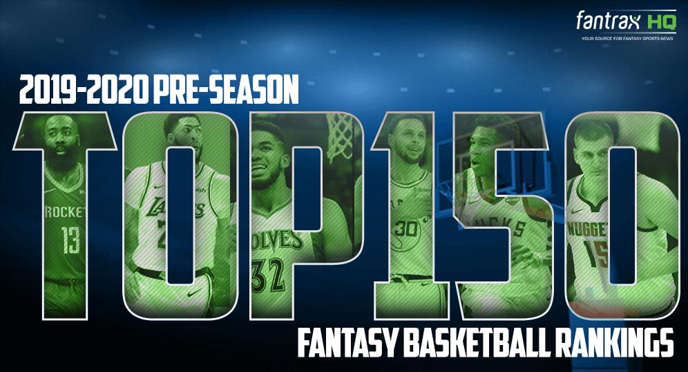 2019-20 Top 150 Fantasy Basketball Rankings [Updated!]
