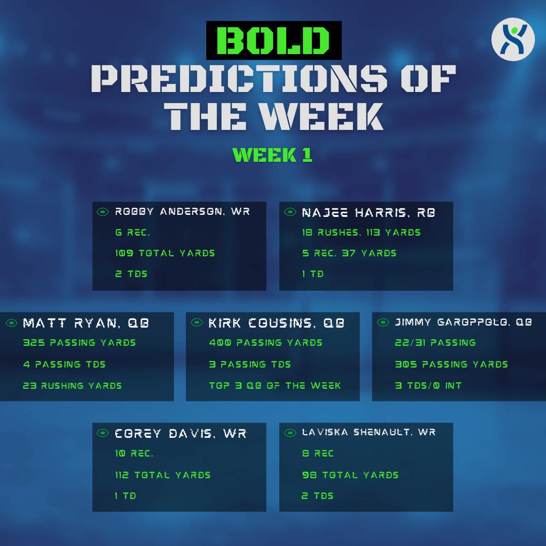 Bold Predictions Week 1